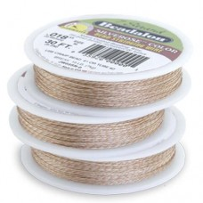 "Silver Rose Colour 0.018"" Beadalon 7 Strand Wire, 100ft Reel, JW03SR-1"