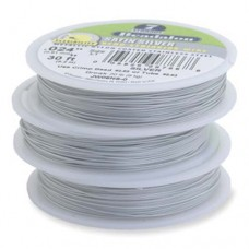 """JW02NS-0, 7 Strand Wire, Satin Silver Colour, 0.015"""", 30ft Reel"""