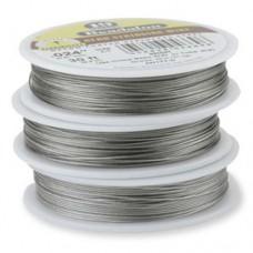 "Beadalon JW14T-0 19 Strand Beading Wire, Bright, 0.015"", 30ft Reel"