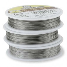 "Beadalon JW17T-0 19 Strand Beading Wire, Bright, 0.024"", 30ft Reel"