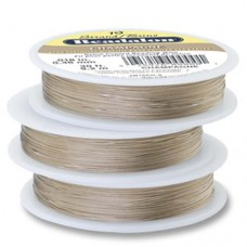 "Beadalon JW15CH-0 19 Strand Wire, Champagne Colour, 0.018"", 30ft Reel"