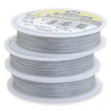 "Beadalon JW15NS-0 19 Strand Wire, Satin Silver, 0.018"", 30ft Reel"