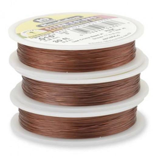 "Beadalon JW15PK-0 19 Strand Beading Wire, Pink, 0.018"", 30ft Reel"