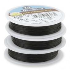 Beadalon JW18B-0 49 Strand Beading Wire, Black, 0.13, 30ft Reel