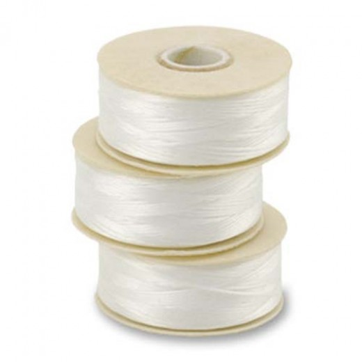 White Nymo Beading Thread, Size B (0.20mm)