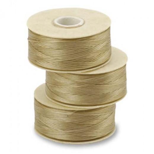 Sand Ash Nymo Beading Thread, Size D (0.30mm)