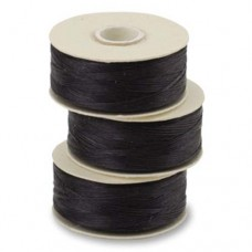 Nymo Beading Thread, Size F (0.35mm), Black