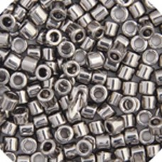 Steel, Colour code  21 Size 15/0 Delicas, 5.2g approx.