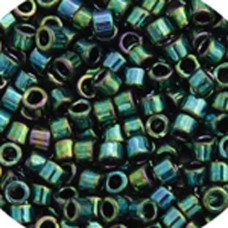 Teal Metallic Luster, Colour code  27 Size 15/0 Delicas, 5.2g approx.