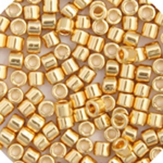 Gold 24kt Transparent AB Plated, Colour code  31 Size 15/0 Delicas, 50gm bag