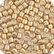 Light Gold 24kt Plated, Colour code  34 Size 15/0 Delicas, 3.3g approx.