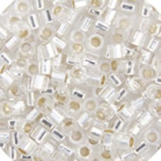 Crystal Silver Lined, Colour code  41 Size 15/0 Delicas, 5.2g approx.