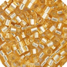 Gold Silver Lined, Colour code  42 Size 15/0 Delicas, 50gm bag