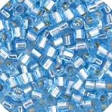 Aqua Silver Lined, Colour code  44 Size 15/0 Delicas, 5.2g approx.