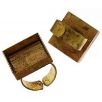 100% Antique Brass Handmade Bezel, Square Ring, 21 x 3mm