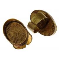 100% Antique Brass Handmade Bezel, Oval Ring, 30 x 20mm