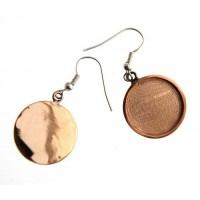 100% Antique Brass Handmade Bezel, Earrings, 19 x 2mm