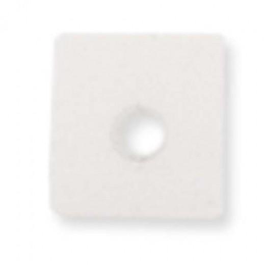 Beadalon Cube Bead Bumpers, 1.7mm, White, 50 Pack