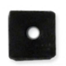 Beadalon Cube Bead Bumpers, 1.7mm, Black, 50 Pack