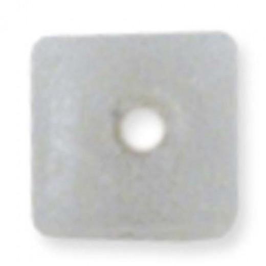 Beadalon Cube Bead Bumpers, 1.7mm, Satin Silver, 50 Pack