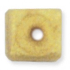 Beadalon Cube Bead Bumpers, 1.7mm, Satin Gold, 50 Pack
