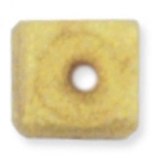 Beadalon Cube Bead Bumpers, 1.7mm, Satin Gold, 50 Pack