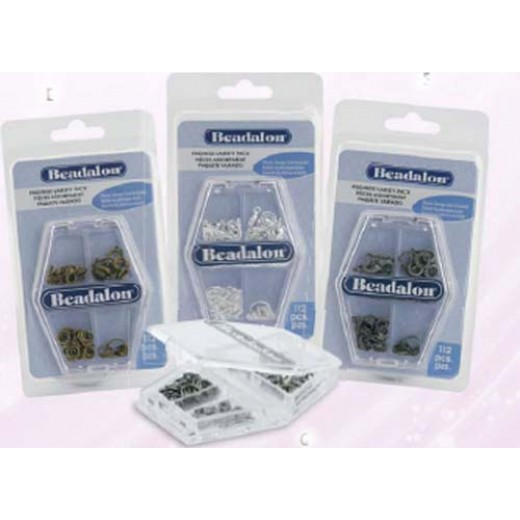 112pc Beadalon Findings Assortment Pk in Antique Brass Finish