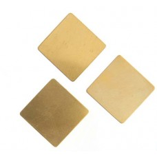 24ga Brass Square, 19mm, Pack of 2