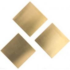 24ga Brass Square, 27mm, Pack of 2