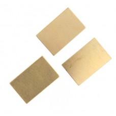 Metal Blank 24ga Brass Rectangle 13x22mm No Hole, 2 Pcs