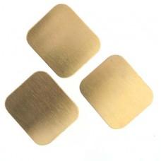 Metal Blank 24ga Brass Rectangle 22x25mm No Hole, 2 Pcs
