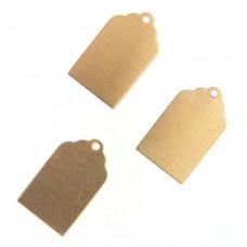 Metal Blank 24ga Brass Rectangle 20x13mm with hole, 2 Pcs