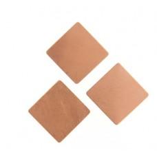 Square 19mm No Hole, 24ga Copper Blank 1 piece