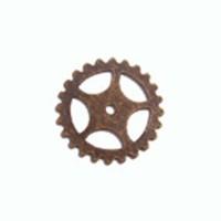 25mm Large Spoked Gear Wheel, Antique Brass Finish