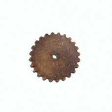 25mm Solid Gear Wheel in Antique Brass finish