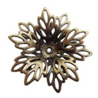 Filligree Flower, Antique Brass Finish