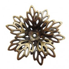 Filligree Flower, Antique Brass Finish