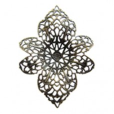 42 x 57mm Enchanted Filigree Component, Antique Brass Finish