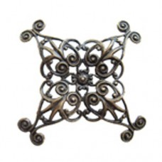 35mm Folding Filligree Component, Antique Brass Finish