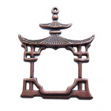 33 x 39mm China House, Antique Copper Finish