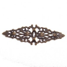 Filligree Ring Base component in Antique Copper, 60 x 22mm