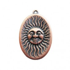 Mr Sunshine Connector in Antique Copper finish, 19 x 19mm
