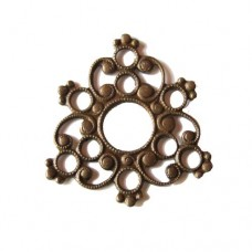 Epiphany Design Filligree base in Rustic Sable finish, 27 x 27mm