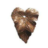 27 x 36mm Heart Shaped Leaf, Rustic Charm Finish