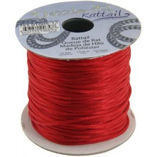 Rattail Cord 2mm Red, priced per 5 metre