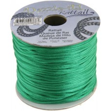 Rattail Cord 1.5mm Kelly Green in 5m pack