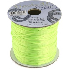 Rattail Cord 1.5mm Neon Green in 5m pack