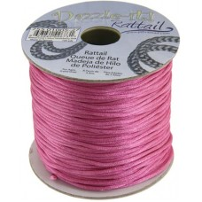Rattail Cord 1.5mm Strawberry Pink in 5m pack