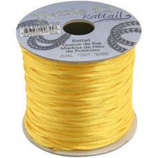 Rattail Cord 1.5mm Yellow in 5m pack
