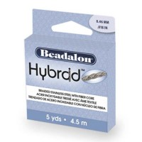 Beadalon 110T-010 Hybraid Strong, Knottable and Abrasion Resistant Beading Wire